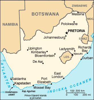 huvudstäder i sydafrika