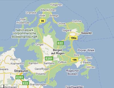rugen karta Rügen   Infoz.se rugen karta